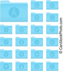 OS X Folders with Art and Design Icons - Set of 20 Folders...