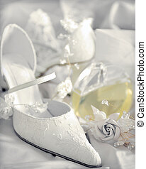 White wedding bridal shoes - White bridal wedding shoes next...
