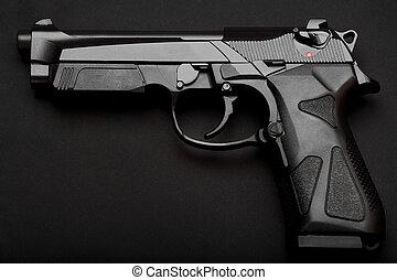 pistola, negro