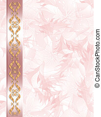 Wedding Invitation Elegant Pink border