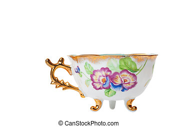 Fancy Teacup - Antique footed tea cup with ornate handle....