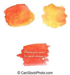 watercolor spots for design elements. color gradients....