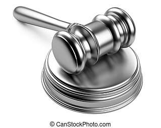 Metallic gavel and soundboard - steel gavel and soundboard...