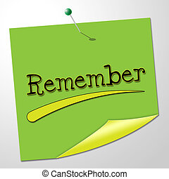 Remember Message Means Keep In Mind And Agenda - Remember...