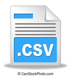 Csv File Represents Comma Seperated Values And...