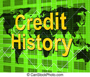 Credit History Indicates Debit Card And Analysis
