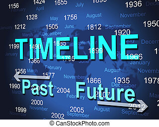 Time Line Represents Timeline Chart And Done - Time Line...