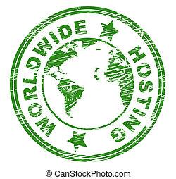 Worldwide Hosting Indicates Worldly Server And Web