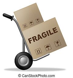 Fragile Box Means Easily Broken And Breakable - Fragile Box.
