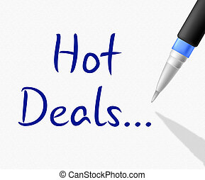Hot Deals Shows Clearance Reduction And Save - Hot Deals...