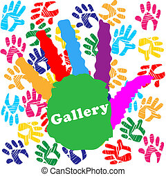 Kids Gallery Indicates Colourful Color And Children