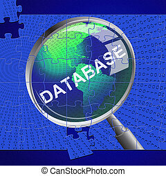 Database Magnifier Represents Search Magnify And Databases -...