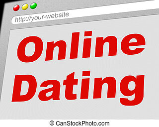 Online Dating Represents World Wide Web And Date - Online...