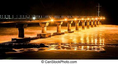 Shark Rock Pier at Night