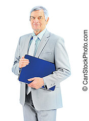 businessman at the age - Nice businessman at the age, keeps...