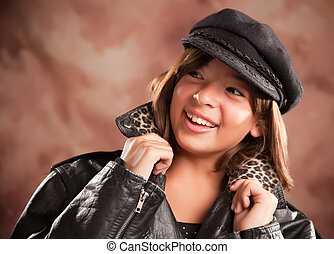 Pretty Hispanic Girl Studio Portrait - Pretty Hispanic Girl...