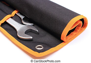 Set of tools in black cover