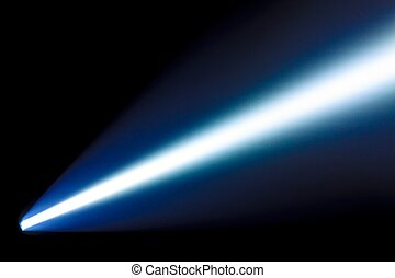 Beam from the flashlight - Bright beam from the power...
