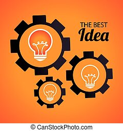 Idea design over yellow background, vector illustration