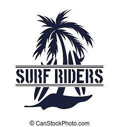 surf design - surf graphic design , vector illustration