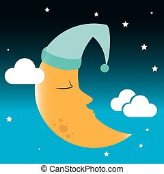 Sleep design over cloudscape background, vector illustration