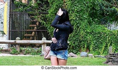 Woman waiting at outdoor