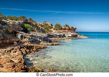 Formentera island - Cala Saona bay beach. Formentera island....