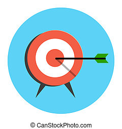 Target Icon. Flat style illustration. Isolated in colored...