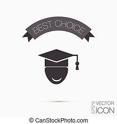 graduate hat avatar symbol icon college or institute...