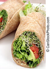 sandwich wrap organic style - fresh sandwich wrap made with...