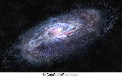 Beyond the galaxy - A picture of massive galaxy with bright...