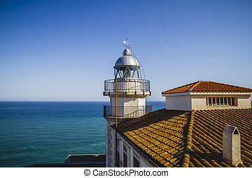 navigation, Lighthouse penyscola views, beautiful city of Valenc
