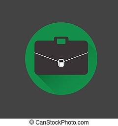 Vector textured black briefcase illustration black background