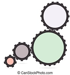 gear colourfull Cogwheel and development icon - Cogwheel and...