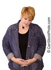Mature Woman Body Language - Shy Uncertain - Mature Woman...