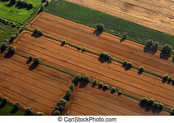 Agriculture aerial view - Aerial view on fields in the...