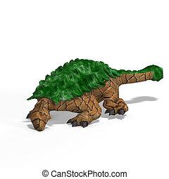 Ankylosaurus - strange dinosaur Ankylosaurus With Clipping...