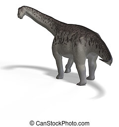 camasaurus - giant dinosaur camasaurus With Clipping Path...