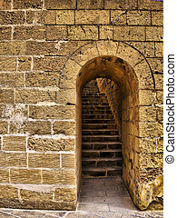 Castle Doorway - Arched doorway leading to steps to Citadel...