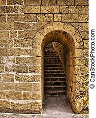 zamek, wejście