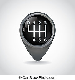 Gearshift knob illustration