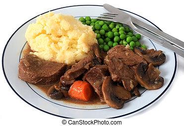 carne de vaca, Hongo, guisado, mealhorizontal