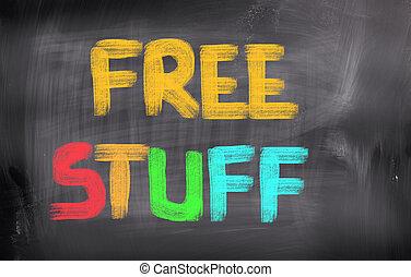 gratuite, remplir, concept,