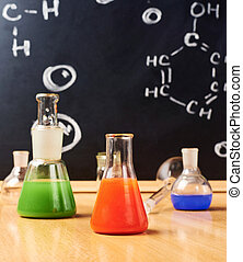 Chemistry tubes and vessels composition - Chemistry glass...