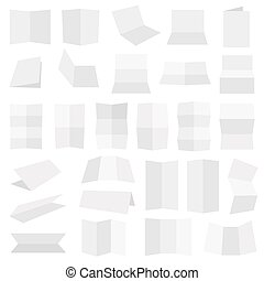 Multiple folded paper sheets - Multiple flat style folded A4...