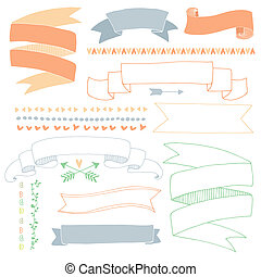 Hand drawn banners - Set of cute hand drawn banners Perfect...