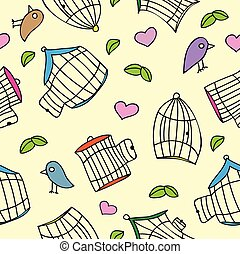 Birds and bird cages