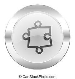 puzzle chrome web icon isolated