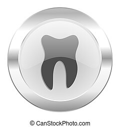 tooth chrome web icon isolated