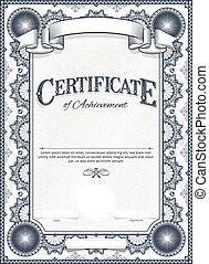 Certificate Template - Diploma or Certificate Blank Vintage...